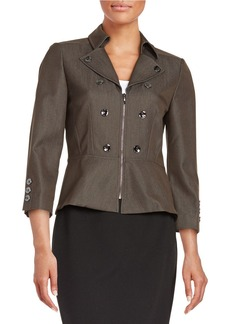TAHARI ARTHUR S. LEVINE Collared Zip-Front Jacket