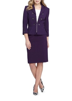 TAHARI ARTHUR S. LEVINE Double Breasted Peplum Jacket
