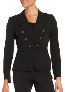 TAHARI ARTHUR S. LEVINE Knit One-Button Jacket