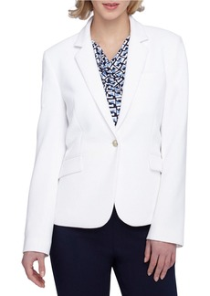 TAHARI ARTHUR S. LEVINE Notched Collar One-Button Jacket