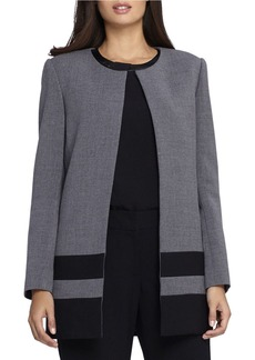 TAHARI ARTHUR S. LEVINE Open Bottom Combo Topper Jacket