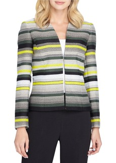 TAHARI ARTHUR S. LEVINE Striped Open-Front Jacket