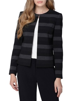 TAHARI ARTHUR S. LEVINE Striped Open Jacket
