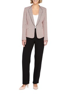 TAHARI ARTHUR S. LEVINE Wing-Collared Stretch-Tweed Jacket