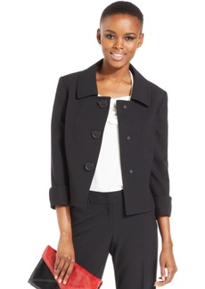 Tahari Asl Four-Button Three-Quarter-Sleeve Jacket
