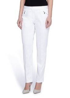 Tahari ASL® Front Zipper Pocket Straight Pants