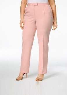 Tahari Asl Plus Size Straight-Leg Pants