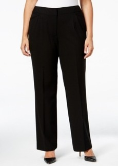 Tahari Asl Plus Size Straight-Leg Trousers