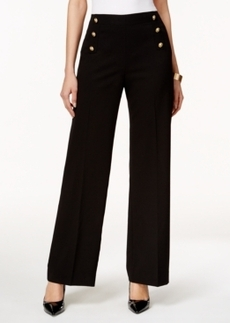 Tahari Asl Sailor Wide-Leg Pants
