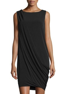Tahari Shara Draped Sleeveless Dress