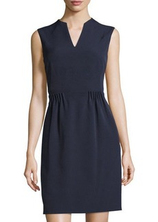 Tahari ASL Sleeveless Sheath Dress W/ Gathered Waist