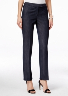 Tahari Asl Straight-Leg Chambray Pants
