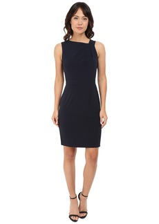 Tahari by ASL Asymmetric-Shoulder Sheath Dress