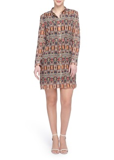 Tahari Chiffon Blouson Shirtdress