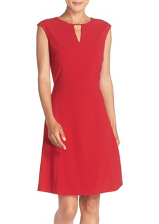 Tahari Embellished Bi-Stretch Fit & Flare Dress (Regular & Petite) (Online Only)