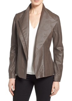 Tahari 'Kelly' Leather Peplum Jacket (Regular & Petite)