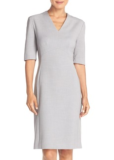 Tahari Mélange Woven Sheath Dress (Regular & Petite) (Online Only)