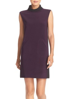 Tahari Mock Neck Scuba Shift Dress (Online Only)