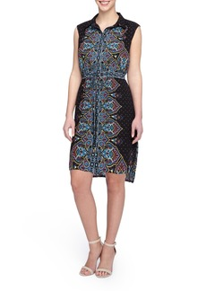 Tahari Paisley Print Shirt Dress (Regular & Petite)