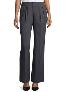Tahari Pleat-Front Flare-Leg Dress Pants