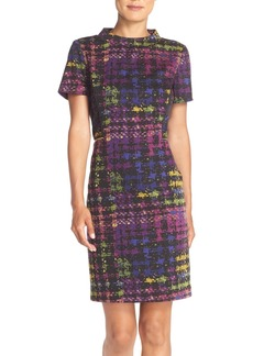 Tahari Print Ponte Sheath Dress (Regular & Petite)