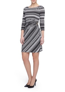 Tahari Print Sheath Dress