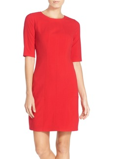 Tahari Seamed Bi-Stretch Sheath Dress (Regular & Petite)