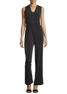 Tahari Sleeveless Ruched Jumpsuit