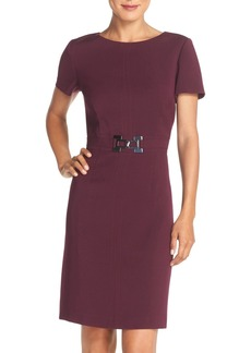 Tahari Stretch Woven Sheath Dress (Regular & Petite) (Online Only)