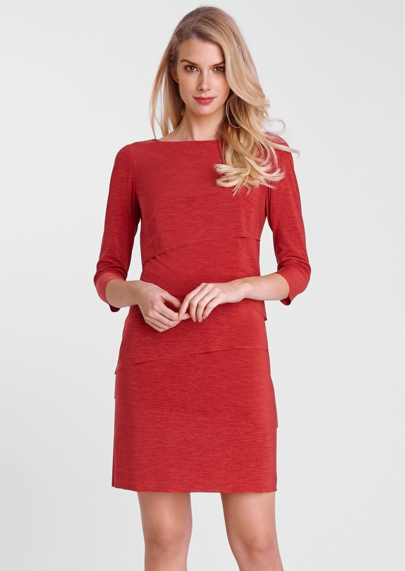 Tahari Tiered Jersey Sheath Dress (Regular & Petite)