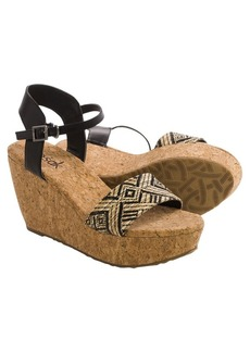 The Sak Solo Straw Wedge Sandals (For Women)