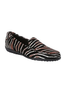 Tod's black and brown zebra print calf...