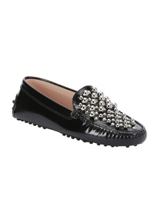 Tod's black studded leather driving lo...