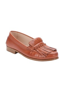 Tod's brown leather fringe moccasin lo...
