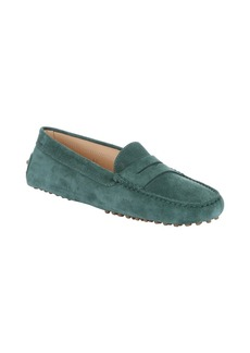 Tod's forest green suede penny driving...
