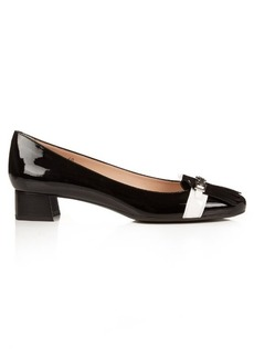 Tod's Frangia patent-leather block-heel pumps