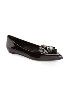 Tod's Fringe Pointy Toe Flat (Women)
