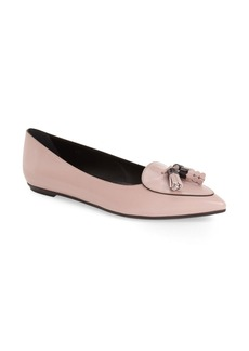 Tod's Fringe Pointy Toe Flat (Women)  (Nordstrom Exclusive Color)