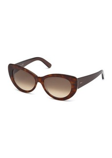 Tod's Gradient Plastic Cat-Eye Sunglasses
