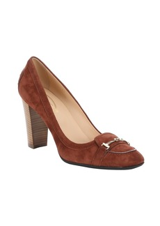 Tod's light mahogany suede horsebit de...