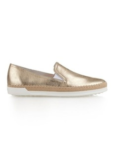 Tod's Metallic-leather trainers