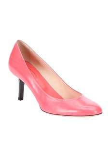 Tod's pink leather kitten pumps