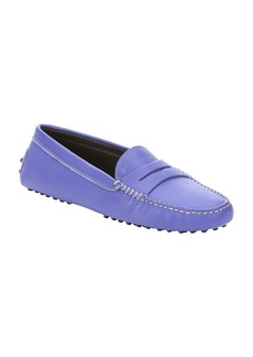 Tod's purple leather penny driving loa...