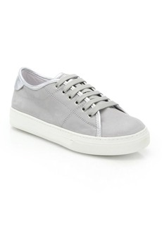 Tod's Sportivo Metallic Leather-Trimmed Nubuck Sneakers