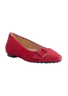 Tod's strawberry suede pointed toe buc...