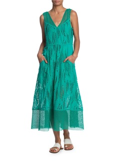 TRACY REESE Contrast Maxi Dress