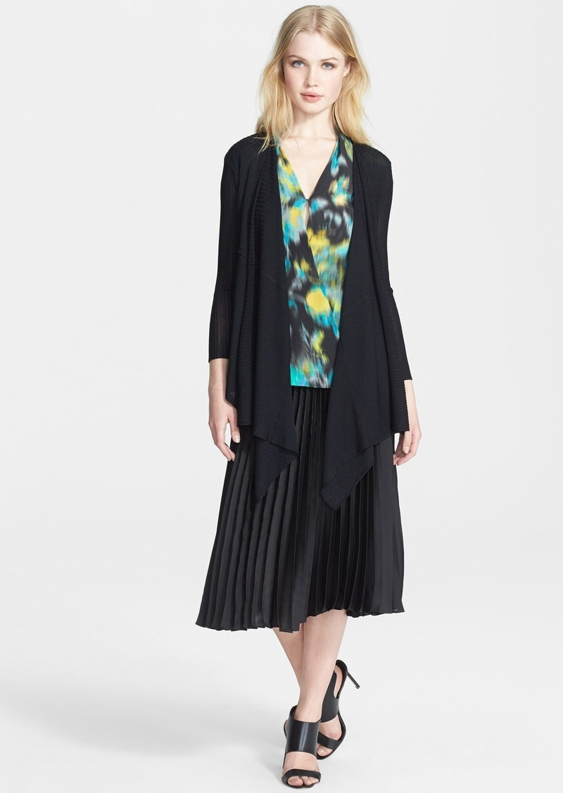 Tracy Reese Draped Rib Knit Cardigan