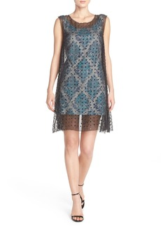 Tracy Reese Embellished Silk & Jacquard A-Line Dress