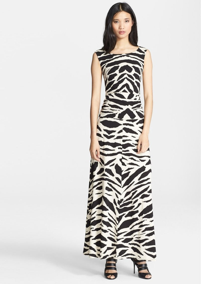 Tracy Reese Graphic Print Cross Back Maxi Dress