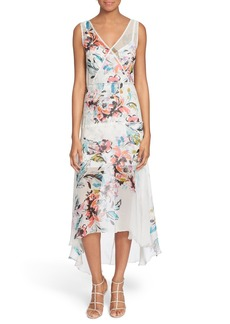 Tracy Reese Print High/Low Silk Dress